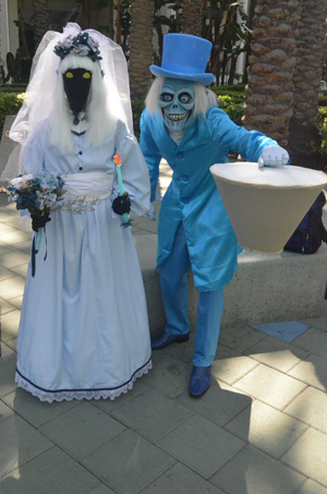 Long lost denizens of the Haunted Mansion crossed the street from Disneyland!