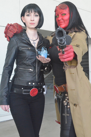 Not to be biased, but our own Mac and Chrissy Lynn rocked the convention as Liz Sherman & Hellboy!