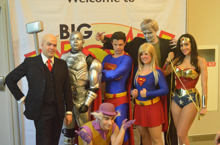 A league of DC's finest took time out to pose for the cameras!