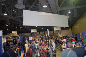 Huge crowds for cosplay corner